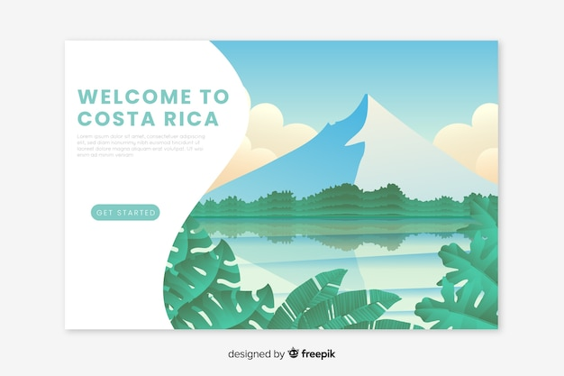 Welcome to costa rica landing page