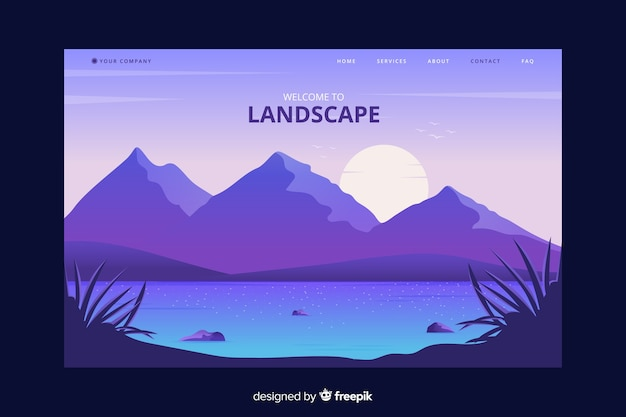 Welcome to country landing page with landscape