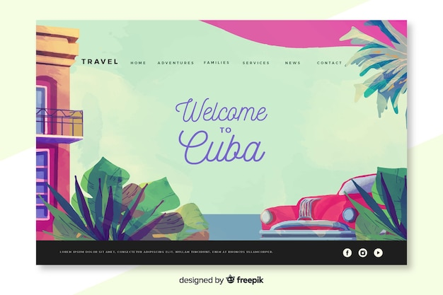 Welcome to cuba landing page