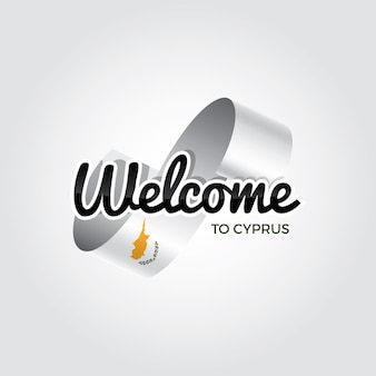 Welcome to cyprus, vector illustration on a white background