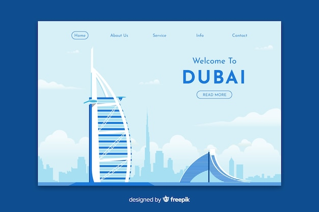 Welcome to dubai landing page template