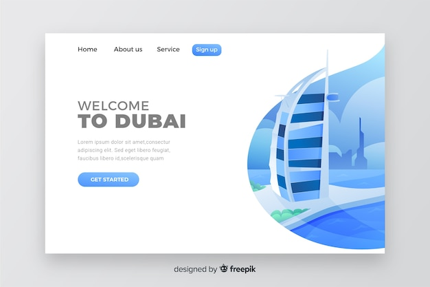 Welcome to dubai landing page
