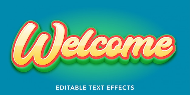 Welcome editable text style effects