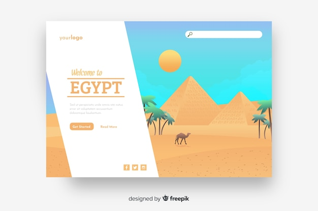 Welcome to egypt landing page template