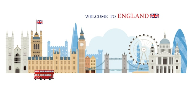 Welcome to england greeting concept