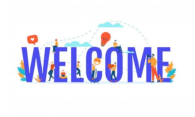 Welcome flat illustration