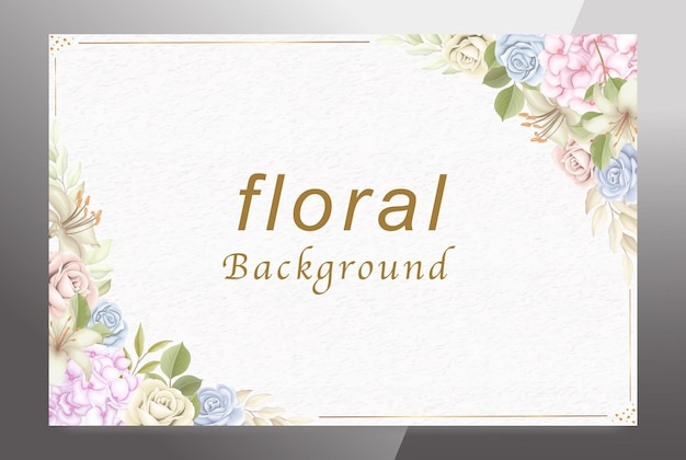 Welcome floral background