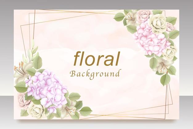 환영 꽃 배경