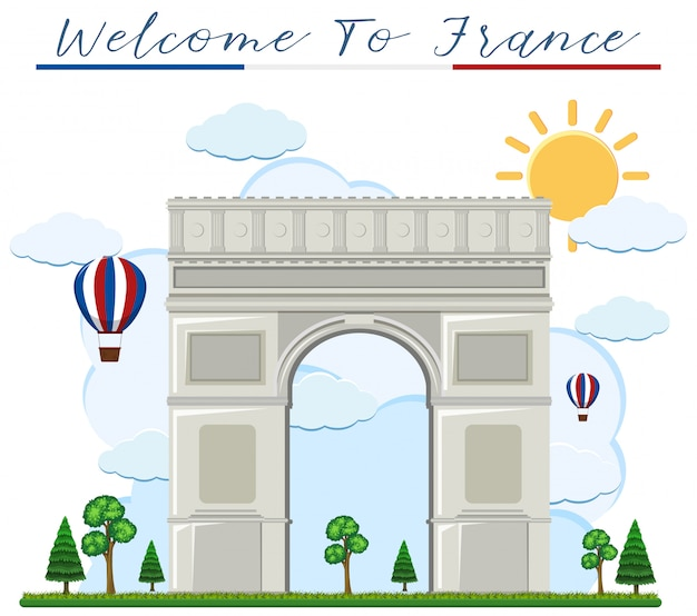 Welcome to france arch de triumph