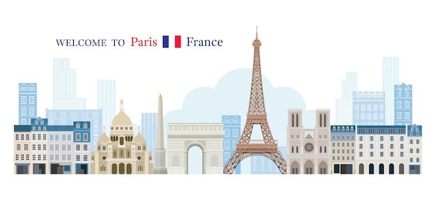 Welcome to france greeting concept