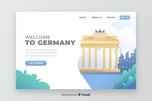 Welcome to germany landing page