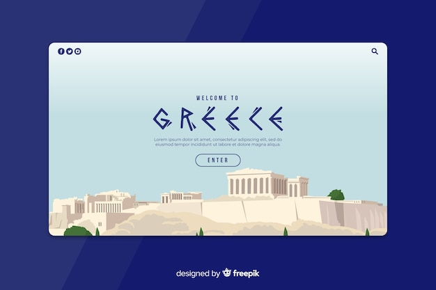 Welcome to greece landing page template