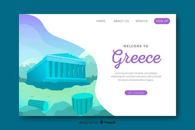 Welcome to greece landing page