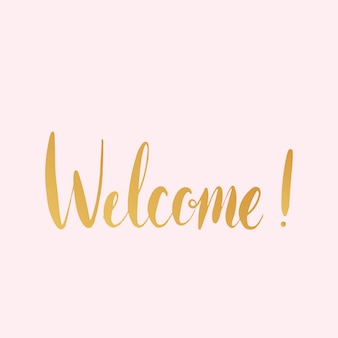 Welcome! handwritten typography style vector