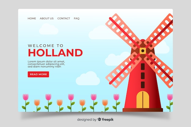 Welcome to holland landing page