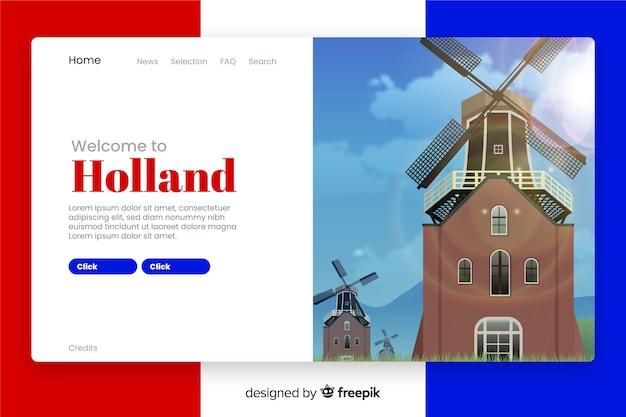 Benvenuti nella pagina di destinazione dell'olanda
