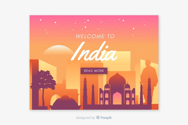 Welcome to india landing page template