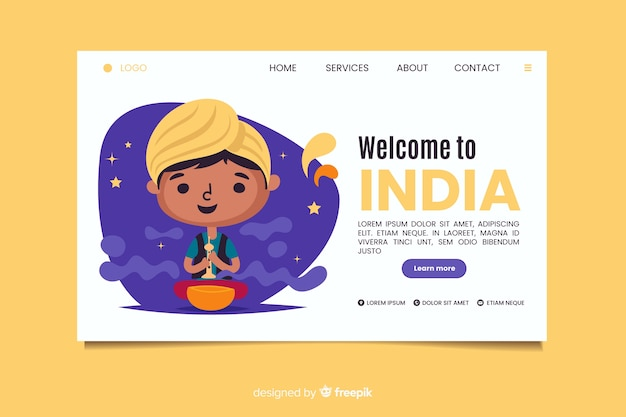 Welcome to india landing page