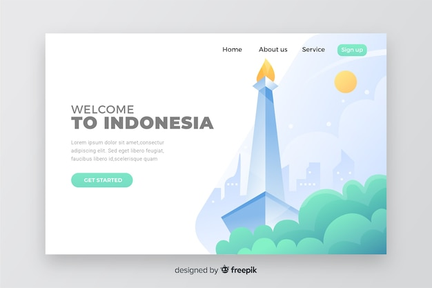 Benvenuto nella pagina di destinazione dell'indonesia