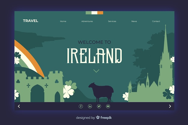 Welcome to ireland landing page