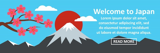 Welcome to japan banner horizontal concept