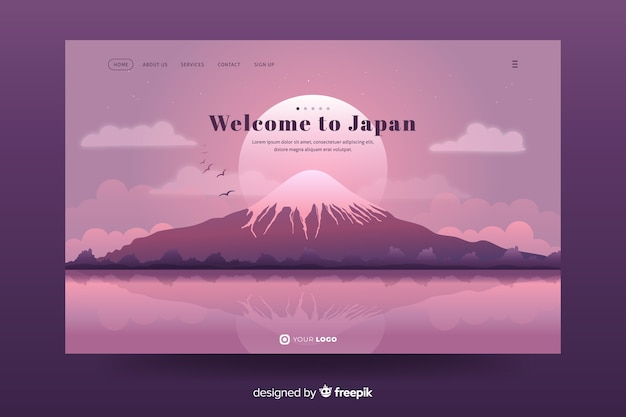 Welcome to japan landing page design