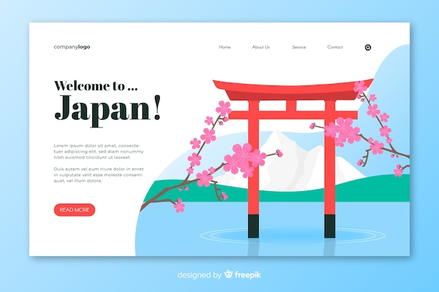 Welcome to japan landing page
