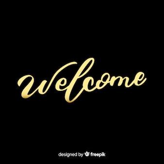 Concetto di lettering di benvenuto