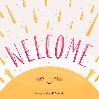 Welcome lettering design