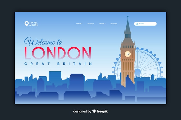 Welcome to london landing page template