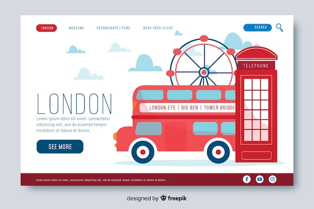 Welcome to london landing page