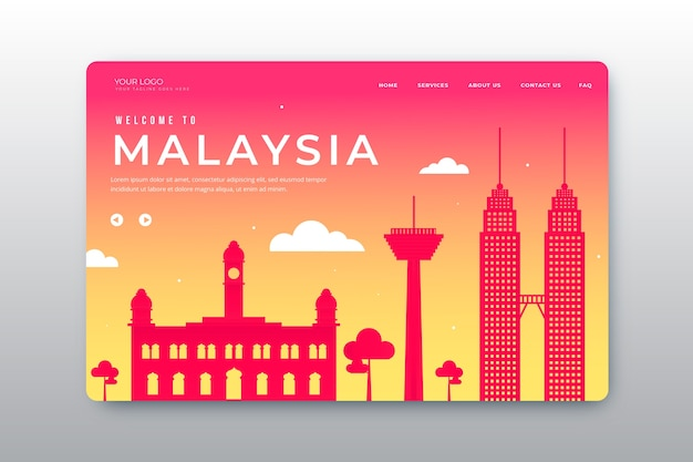 Welcome to malaysia landing page