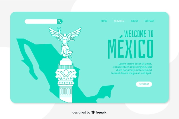 Welcome to mexico landing page template