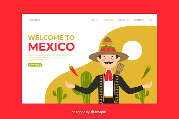 Welcome to mexico landing page