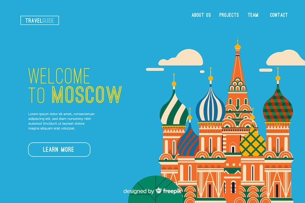 Welcome to moscow landing page