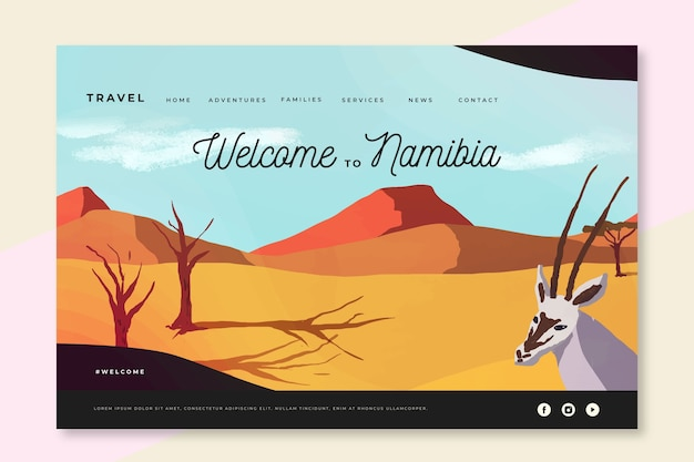 Welcome to namibia landing page