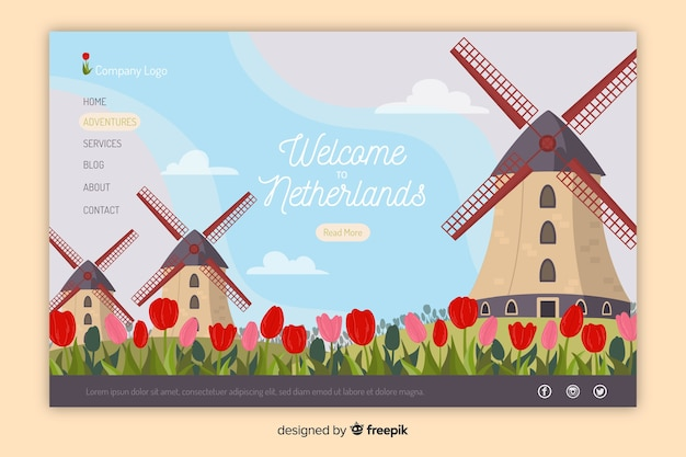 Welcome to the netherlands landing page