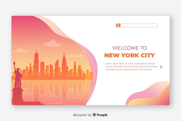 Welcome to new york landing page template