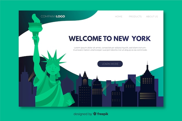 Welcome to new york landing page