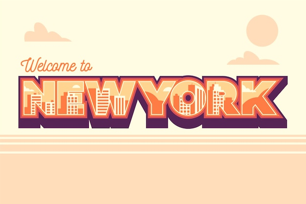 Welcome to new york lettering