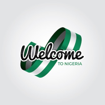 Welcome to nigeria, vector illustration on a white background