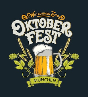 Welcome to oktoberfest lettering