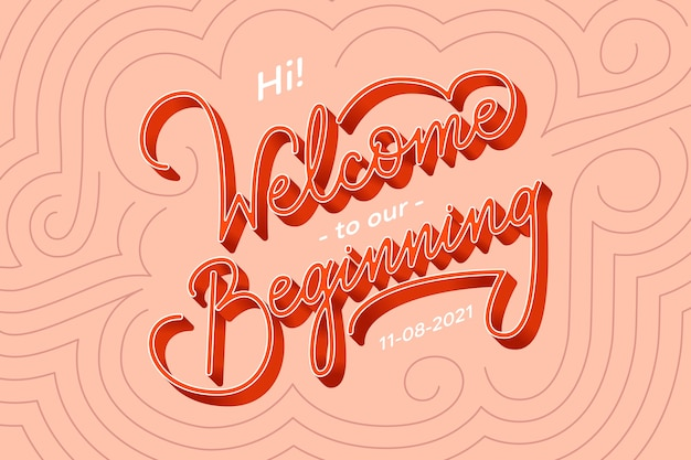 Welcome to our beginning wedding lettering