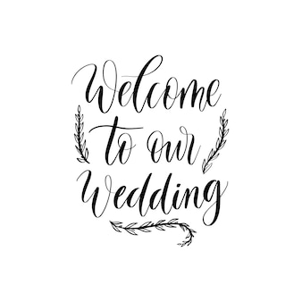 Welcome to our wedding