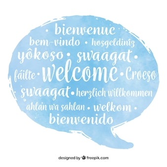 Welcome pattern in different languages