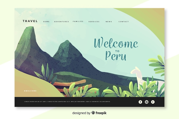 Welcome to peru landing page