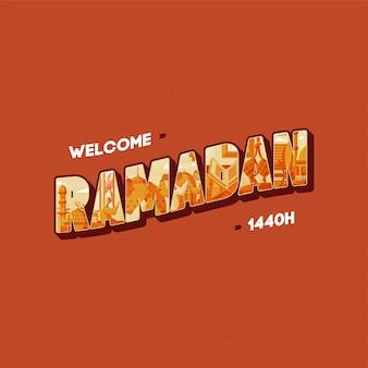 Welcome ramadan Premium Vector