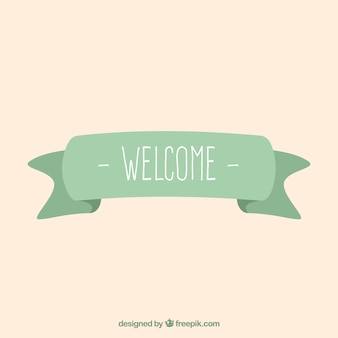 Welcome ribbon