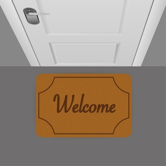 Welcome rug great design for any purposes cartoon icon vector isolated vector sign
