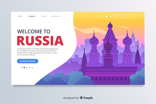 Welcome to russia landing page